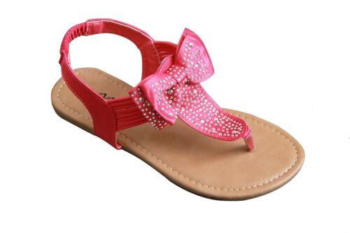 Summer Girls Toddler Rhinestone Bow Buckle Sandals Shoes size 5-10