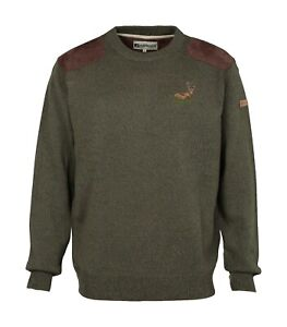 Percussion-Embroidered-Stag-motif-hunting-round-neck-jumper