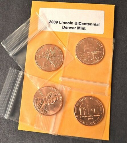 Complete Set Lincoln Bicentennial 2009 Cent Penny P /& D From Mint Rolls 8 Coins