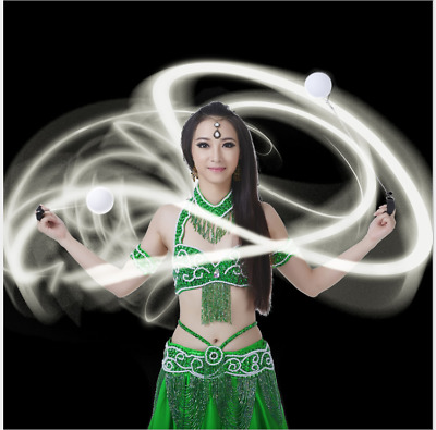 Details about  /Waterproof LED POI Thrown Balls For Professional Belly Dancer Level Hand Props