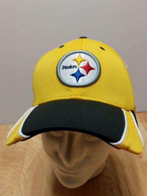NFL New Era 3930 Pittsburgh Steelers Training Camp Flex Fit L XL Hat Cap  Yellow b27f7be71639