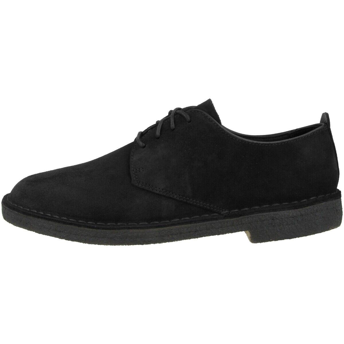 Clarks Desert London Schuhe Herren Halbschuhe Business Schnürer schwarz 26133274