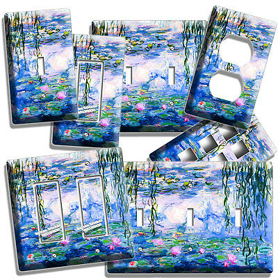Art Plates Outlet Cover 14-O-plate Monet Water Lilies Switch Plate
