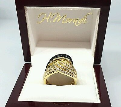 Carved Italian Onyx and Diamond Wrap Ring in 18k Yellow Gold-- HM1174S3