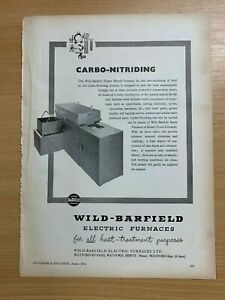 1954-Wild-Barfield-Watford-Electrique-Furnaces-Vintage-Annonce