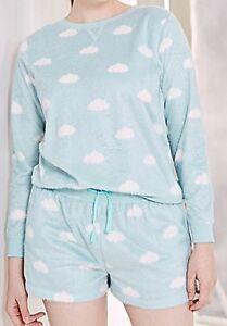 dc36295e47006 Size 20 22 Pretty Secrets Blue Cloud Fleece Long Sleeve   Shorts ...