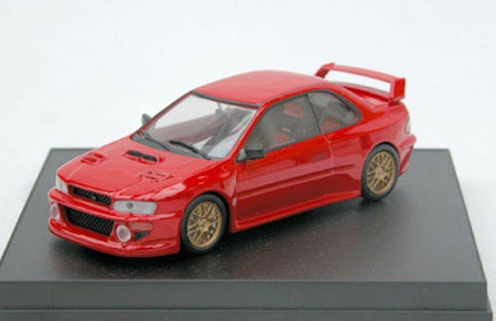 TROFR SUBARU IMPREZA STi 22B WRC die cast model road car 2 door red 1 43