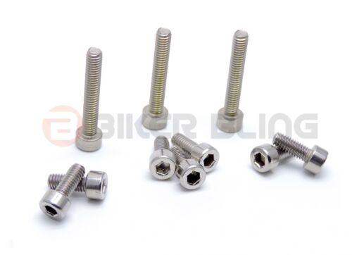 Aprilia RS50 2006 stainless steel petrol tank fuel filler cap mount bolts screws