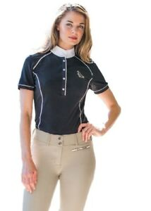 Goode-Rider-Iconic-Women-039-s-Show-Shirt-with-Contrast-Piping-and-Stock-Tie-Loop