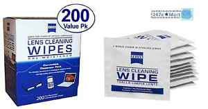 New Zeiss Pre Moistened Lens Cloths Wipes 200 Ct Glasses