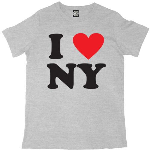 I LOVE NEW YORK MENS I HEART NY CLASSIC PRINTED T-SHIRT