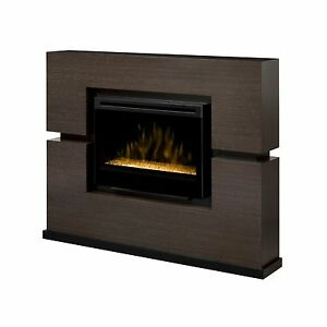 Dimplex Linwood rift gray electric TV fireplace media ...