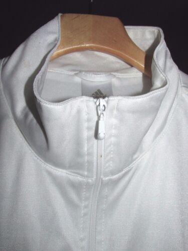 jersey le Veste avec rouge zip Adidas en blanc sur Ar en Xl femmes pour devant polyester vw5qwSUxT