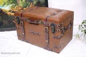 Bellissima cassapanca pelle cassa coloniale stile valigia