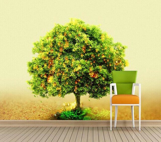3D Leuchtkäfer Grüner Baum 74 Tapete Wandgemälde Tapete Tapeten Bild Familie DE