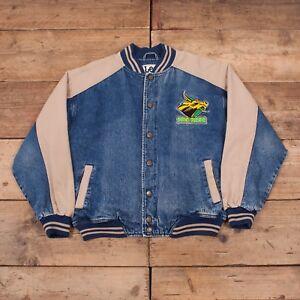 """Blue Large Sport Mens 44 90s Lee Denim Blue Jacket Jacket Sport Mens South South Vintage Lee Florida Bulls 44"""" Large Vintage R9944 Florida 90s Bulls Denim Ewgq7Tf"""