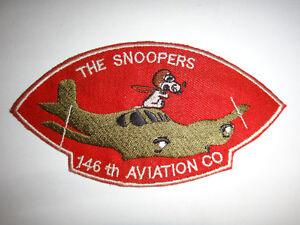US-146th-Aviation-Company-Radio-Ricerca-il-Snoopers-Vietnam-Guerra-Toppa