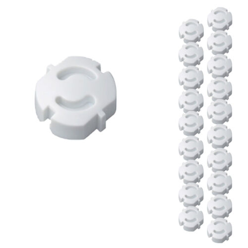 20er Pack H H KS 6 tomacorrientes blanco de copia de seguridad para enchufar