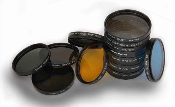 13pc Camera Lens Filter Set Pour Nikon D3500 Qui A Af-p Objectif 18-55 Mm Belle Apparence