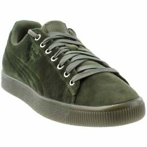 Puma-Clyde-Velour-Ice-Sneakers-Casual-Green-Mens
