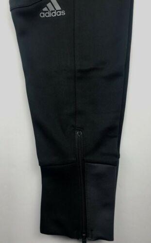 Adidas Mens XL 3 Stripe Life Black Basketball Cuffed Sweatpants NWT $75