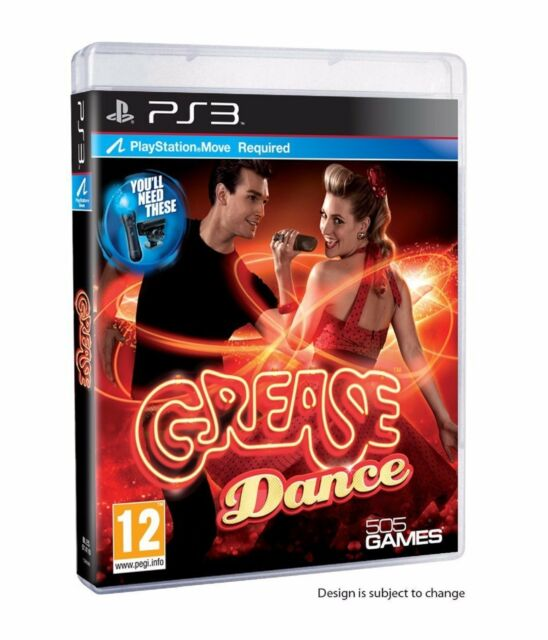 GREASE DANCE MOVE REQUIRED PS3 PlayStation 3 Music Dancing Video Game UK Rel New