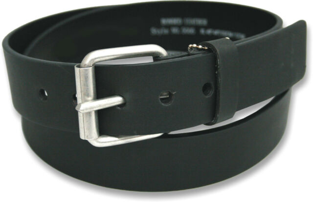 """NEW MENS LEATHER BELT FOR JEANS BY OSSI IN BLACK SIZES 32"""" - 60"""" NWT"""