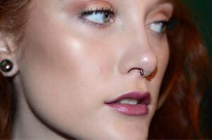 Septum Ring Jewelry U Shaped 16g 6mm 3mm Balls Rose Gold Ebay