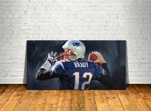Tom Brady Canvas High Quality Giclee Print Wall Decor Art Poster Artwork