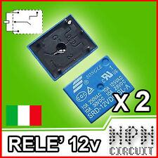 2X Relè 12V DC Relay 4 pin 250V 10A Arduino, PIC Monostabile SRD-12VDC-SL-A