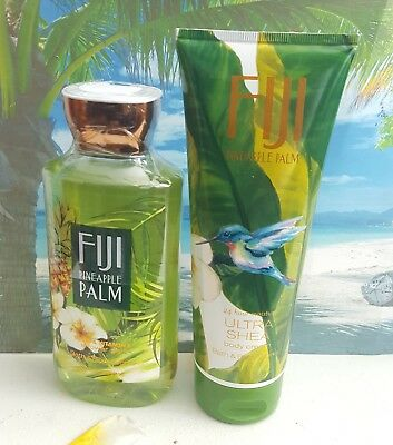 bath and body works fiji pineapple palm shower gel and body cream