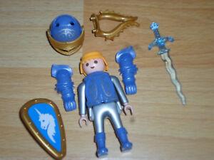 Chevalier De Licorne Bleue De L'oeuf De Pâques 3977 Rare Top Mega Rar Playmobil