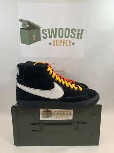 the latest a6f09 4ae44 Image is loading Nike-Blazer-Mid-NY-Vs-LA-Black-Suede-