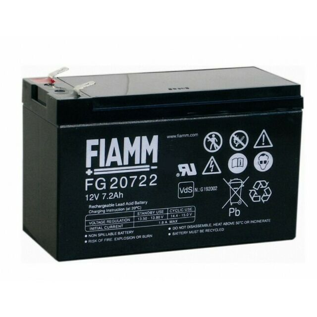 Fiamm FG20721 replacement battery 12volt 7ah from RITAR FG20722