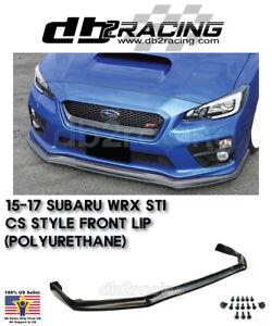 Urethane Fits 15-17 Subaru WRX STi VR Style JDM Front Lip
