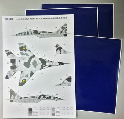 ukrainien de forces aériennes Digital Camouflage Foxbot DECALS 1//32 Mikoyan MiG-29 9-13