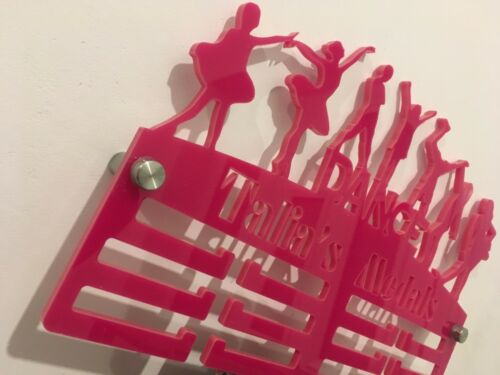 Dance Mix Medal Hanger Holder Display Rack PERSONALISED 3Tier Acrylic COLOURS