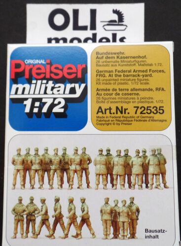 Preiser 72535 1//72 German Federal Armed Forces FIGURES SET