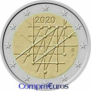 2-Euros-Conmemorativos-FINLANDIA-2020-Universidad-Turku-Sin-Circular