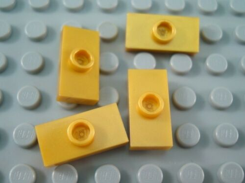 New LEGO Lot of 4 Pearl Gold 1x2 Specialty Plates with 1 Stud