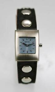 Relic Watch Women Blue Stainless Gold Leather Brown Black Water Resistant Quartz