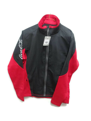 Coca-Cola Knit Colorblock Jacket Black and Red w/Reflective Logo and Accents.