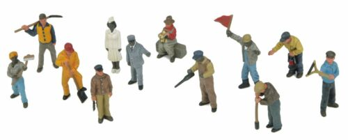 12-Piece Passenger Figure Set MTH 30-11066 Railroad Workmen O Gauge