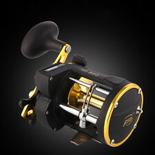Trolling Reel +Counter Saltwater Sea Fishing Conventional Reels Aluminum Drum