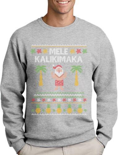 Mele Kalikimaka Hawaiian Santa Themed Ugly Christmas Sweater Sweatshirt Gift