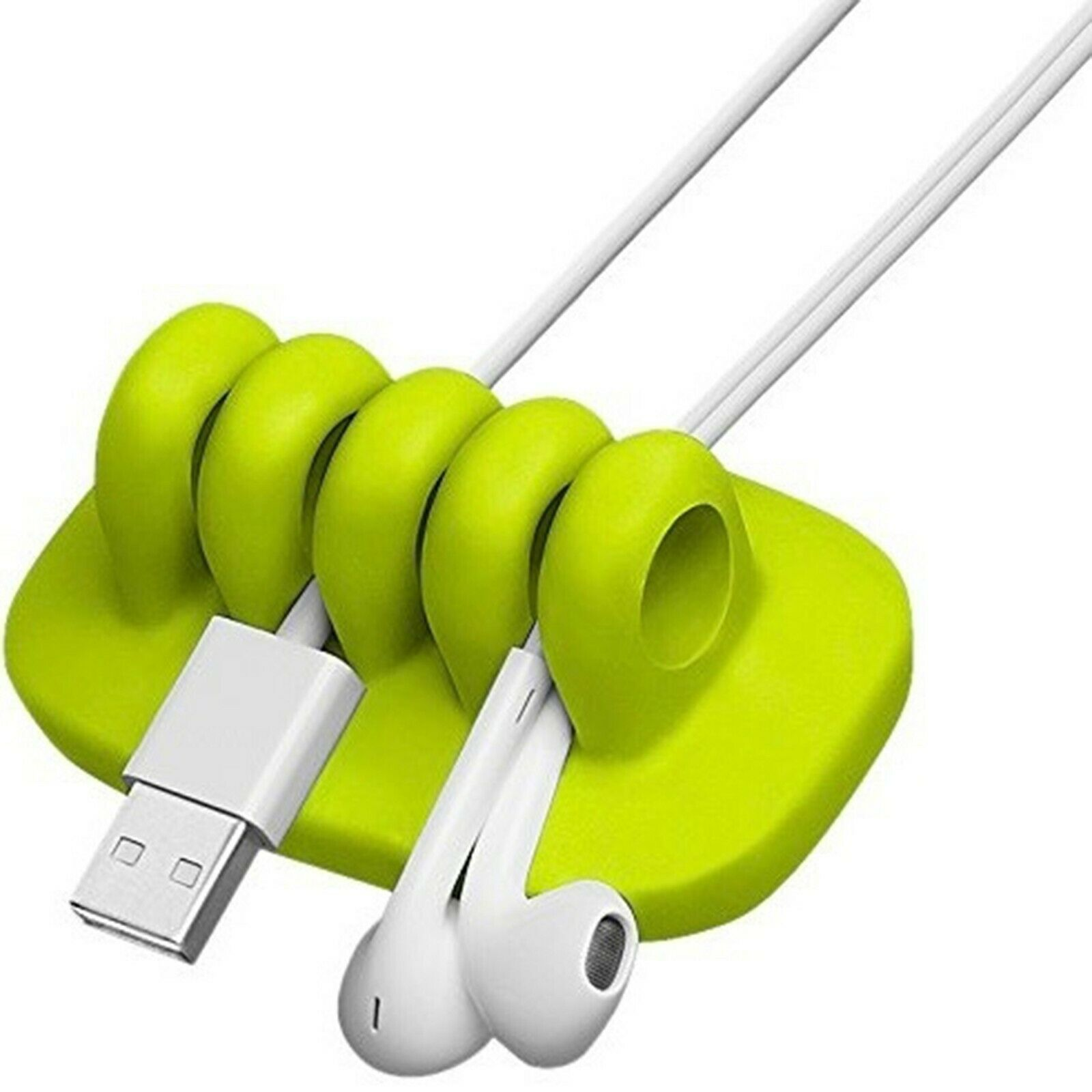 Quirky green desktop cable management office leads wires tidy gadget