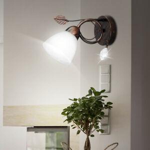 LED Wand Strahler Spot Lampe verstellbar Wohn Zimmer Glas Lese Leuchte alabaster