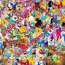 HUGE Adventure time Sticker Bomb sheet Euro  Vinyl Decal vw  vauxhall honda Dub