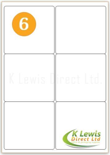 Self Adhesive Sticky Peel Address Labels 2 Labels Per A4 Sheet L7168 J8168