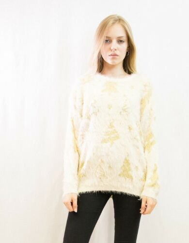 Lady/'s Christmas tree trees warm thick Fluffy Knitted Long Jumper Top knitwear